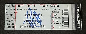 PHIL HUMBER SIGNED PERFECT GAME FULL TICKET APRIL 21, 2012 PHILIP 4/12 WHITE SOX