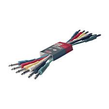 Patch Audio 6 Câbles Jack 6.35 MONO vers Jack 6,35 Male MONO Long 60 cm CHACUN