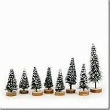 Department 56 Snow Village Snow Covered Pines set of 8 accessory