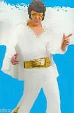 Vegas Elvis King of Rock Men's fancy dress Costume white Fits up to 6' 90kg