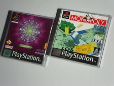 Raccolta ps1 PLAYSTATION 1 chi vuol essere milionario 2 edit Monopoly in animazioni 3d