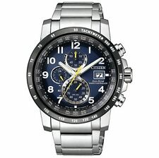 Citizen Funkuhren Uhr Herrenuhr Edelstahl Chrono Datum silber AT8124-91L