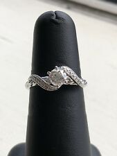 Angel Sanchez Ring 1/2 CTTW Diamond Engagement Ring 14K WG Size 7.75 Kay / Jared