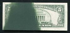 1981 $5 FRN FEDERAL RESERVE NOTE MAJOR GREEN INK SMEAR ERROR EXTREMELY FINE