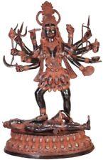 """Large KALI Killed Hindu Jai God Liberator Statue 43"""" Vintage Brass Figure 63 KG"""