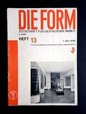 Imbutitura MAGAZINE 1929 Bauhaus ARCHITETTURA DESIGN MODERNO CH. DELL Baumeister