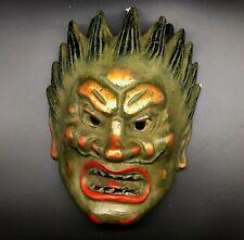 "Japanese vintage Pottery  ""Nio god"" /Antique demon hannya oni noh asian"