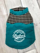 DOBAZ DOG PUPPY GREEN GILET CLOTHES HOODIE POPPER JACKET COAT SIZE MEDIUM A22