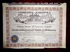 Minas del Rif ,Share certificate 1946  Spain   VG+/F