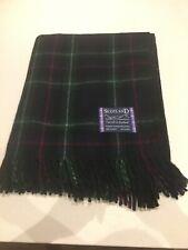 Tweed Scotland Modern Tartan Plaid 100% Wool Knee Rug Blanket Mackenzie Throw