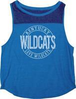 NCAA Kentucky Wildcats Women's Heritage Tri-Blend Yoke Tank Shirt, Large, Royal