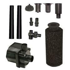 400 GPH Fully Submersible Backyard Pond Pump Oil Free Design Filtered Filtration