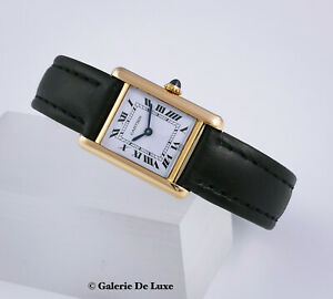 Cartier Tank 18K Gelbgold Damenuhr Handaufzug