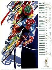 Atlanta Olympics 1996 VELODROME TRACK CYCLING Event Poster by H.Yamagata