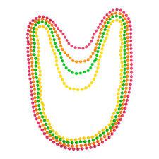 80s Neckalace 4 Neon Beads eighties Jewellery Disco Pop Retro Fancy Dress
