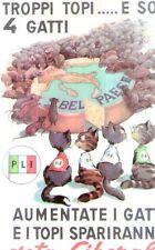 Riproduzione Cartolina Propaganda 1958 Partito Liberale Italiano