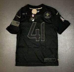 Nike New Orleans Saints Alvin Kamara Salute To Service Black Jersey Sz Youth XL