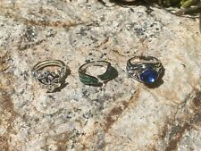 Lord of the Rings Wood Elf Lot of 3 different Rings Gift Set Lotr