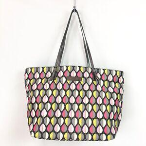 Vera Bradley Tote Shoulder Bag Bag Moon Drops Textured PVC Slim Strap Shopper