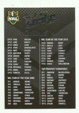 2011 NRL SELECT STRIKE CHECKLIST # 4 COMMON BASE CARD FREE POST