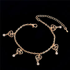 Love Heart Anklet Chain Ankle Bracelet Anklets Jewelry Women Gold Plated Us New