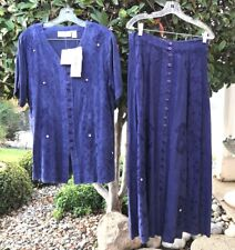 Lee David Collection Navy Long Blouse/Skirt.Size S.Nwt