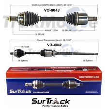 Volvo V70 X/C XC70 AWD 01-07 Pair of Front CV Axle Shafts SurTrack Set