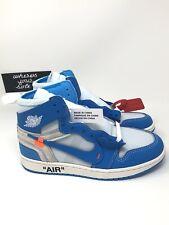 Air Jordan 1 One Off White UNC Mens Size 6.5 Wmns 8 High Blue New DS AQ0818-148