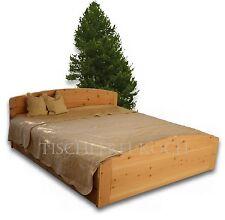 Zirben-Bett / Massivholzbett aus Zirbenholz mit 2 Bettkästen