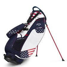 NEW Callaway Golf 2019 Hyper-Lite 3 HL3 Stand Bag Red / White / Blue USA Flag
