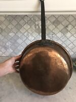 Antique FRENCH COPPER Sautee Pan,c.Very Early 1900s,HUGE&Heavy,HANDMADE