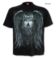 Spiral Direct Unisex T Shirt Angel Gothic WOLF SPIRIT Lycos Wings All Sizes