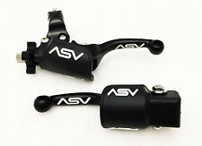 ASV UNBREAKABLE F3 SHORTY BLACK CLUTCH + BRAKE LEVERS  DUST COVERS YZ 250 125