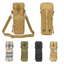Outdoor Tactical Molle Water Bottle Bag Holder Kettle Pouch With Shoulder Strap