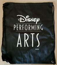 Disney Performing Arts Drawstring Bag Sack Backpack Black Cinch New
