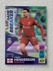 Panini Adrenalyn XL Premier League 2021/22 Jordan Henderson Game Breaker Card