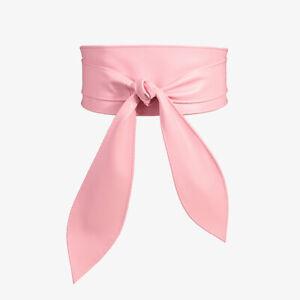 Womens Bow Belt Wide Soft Leather Corset Cinch Belt Self Tie Waistband For Dress