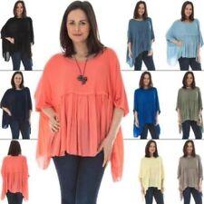 Maglie e camicie da donna maniche a pipistrello multicolore viscosa
