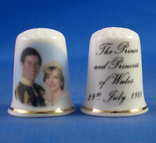 Birchcroft China Thimble --  Prince Charles and Diana Wedding 1981 with Free Box