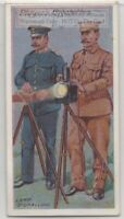Army Troops Using Lamps For Night Signaling 100+ Y/O Trade Ad Card
