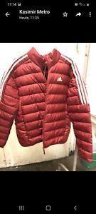 Adidas Damen Und Herren Daunenjacke rot in  Größe M  Brandneu