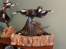 Art Deco Bronze Woman SIGNED Chiparus Museum Quality on Marble base