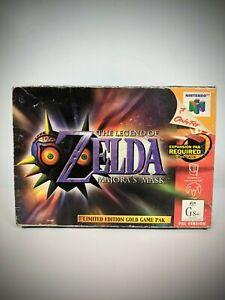 BOX ONLY The Legend Of Zelda Majora's Mask N64 Nintendo 64 AUS PAL Link Majoras