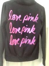 VICTORIAS. SECRET PINK Size XS  Black  1/4 Zip Pullover.  LOVE PINK on back