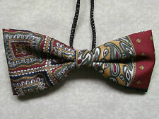 Boys Bow Tie Elasticated Bowtie UNISEX Boy Girl DARK RED GREEN