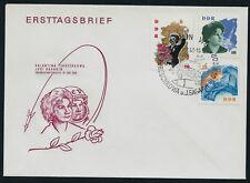 GERMANY EAST DDR 1963 Kosmonaut Visit Gagarin Tereschkova Space FDC Berlin SHS