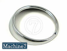 Classico VW BEETLE PROIETTORE FRONT HEAD LIGHT FARO RIM 1 FORO Chrome Bug 74 -
