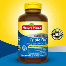 Nature Made TripleFlex Triple Strength, Glucosamine Chondroitin MSM, 200 Caplets