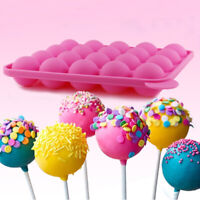 20 Capacity Round Shape Silicone Lollipop Mould Tray Candy Chocolate Baking Mold