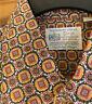 Vtg 60s 70s KMART Dress Shirt PERMANENT PRESS Disco Groovy Big Collar Mens L